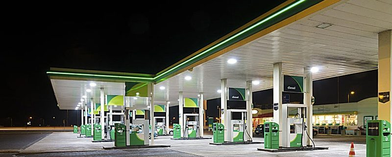 led high bay gas station application