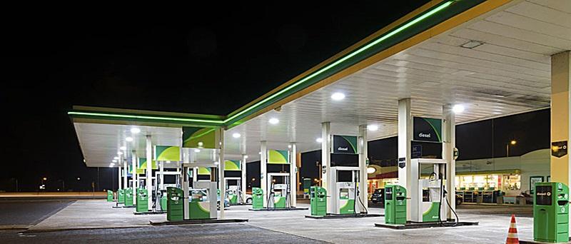 led high bay gas station application
