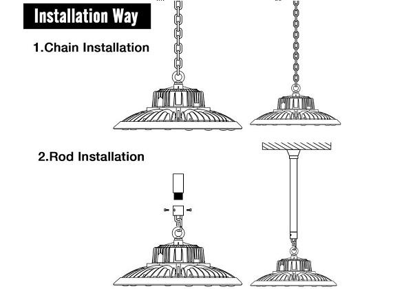 mosun a ufo high bay light installation